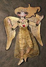 GOLD ANGEL art doll