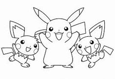 Pikachu Pokemon coloring pagesADULT COLORING BOOK PAGESMore