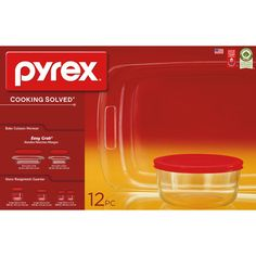 Pyrex 12-Piece Easy Grab Bake and Store Set, Red