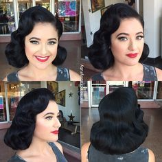 """""""@high_waisted_artistry modeling for @hollywestphotography today! Hair by me #missrockabillyruby and makeup by @erikareno_artistry #erikarenoartistry…"""""""