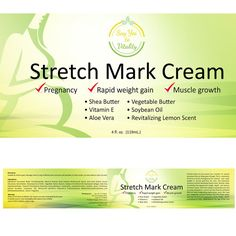 Create a luxurious yet easy to read label for a professional Stretch mark cream by pag-ibig