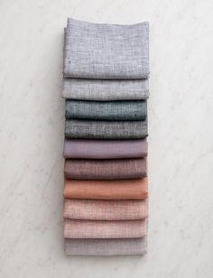 Watercolor Linen Bundle, 10 Fat Quarters