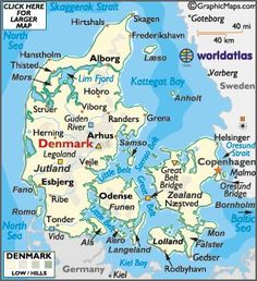 Denmark Map / Geography of Denmark / Map of Denmark Denmark Facts, Denmark Map, Denmark Travel, Copenhagen Denmark, Aarhus, Lonely Planet, Flags Europe, Number The Stars, Baltic Cruise