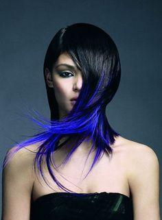 cabello | Cabellos con mechas | Pinterest | Blue, Electric Blue ...