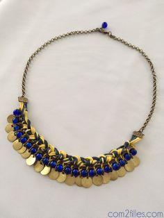 PICTURE 234. collier plastron de la cabane a perles