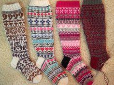 Nina Laitinen designs ohjeilla Cross Stitch, Socks, Knitting, Crochet, Design, Fashion, Moda, Punto De Cruz, Tricot