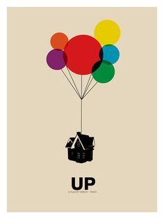Up original Disney Pixar Inspired Movie Art Poster di FADEGrafix Minimalista Disney, Poster Minimalista, Disney Movie Posters, Disney Pixar Movies, Play Poster, Movie Poster Art, Gig Poster, Minimal Movie Posters, Minimal Poster