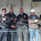 On Friday firefighters and Richmond, VA came to the aid of six puppies that were trapped in a crawl space in an abandoned home.
