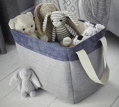Buy the Canvas Storage Bag - Medium from STORE Basketware today! A part of our Toy Storage Boxes range. Toy Storage Boxes, Toy Boxes, Bag Storage, Side Table With Storage, Under Bed Storage, Large Bags, Small Bags, Neutral Color Scheme, Small Canvas