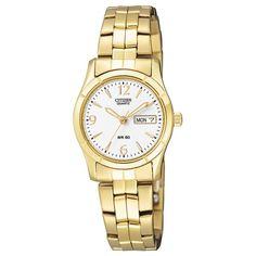 Citizen Ladies Watch (Model: EQ0542-51A) Watch Model, Watches Online, Sport Watches, Fashion Watches, Gold Watch, Bracelet Watch, Quartz, Jewels, Womens Fashion
