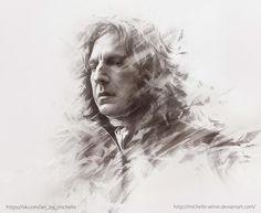 """Harry Potter"" ART (portraits) by Michelle Winer, via Behance"