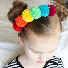 This DIY Rainbow Pom Pom Headband/Necklace is perfect for St Patrick's Day or any day really!