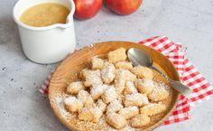 Geschmacksmomente: Topfen-Dinkelnockerl mit Apfelmus