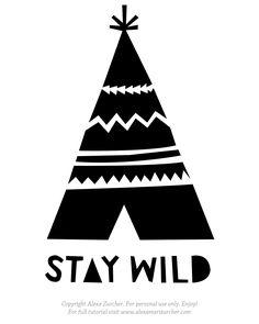 """""""stay wild stencil.JPG"""" wird angezeigt."""