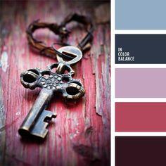 color azul aciano, color azul navy, color berenjena, color lila, color vino, colores para la decoración, elección del color, paletas de colores para decoración, paletas para un diseñador, selección de colores.