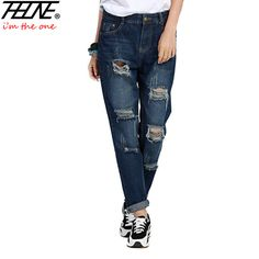 We love it and we know you also love it as well Plus Size 5XL Street Style Boyfriend Jeans Women Denim Pants Destroyed Holes Casual Fashion Loose Fit Torn Ripped Jeans Female just only $20.78 with free shipping worldwide  #womanjeans Plese click on picture to see our special price for you