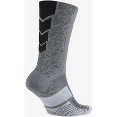 Nike Match Fit Elite Hypervenom Crew Soccer Socks. Nike.com ($15) ❤ liked on Polyvore featuring intimates, hosiery, socks, nike socks, crew socks and nike