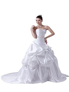 Angel Formal Dresses Womens a Line Sweetheart Wedding Gown with Beading Waist 16 White -- You can get additional details at the image link.