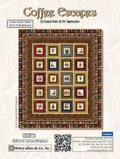 Coffee Escapes Quilt #1 by Bonnie Krebs