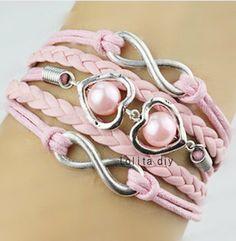 Infinite jewelry heartshaped bridesmaid bracelets by Lolitadiy, $4.99