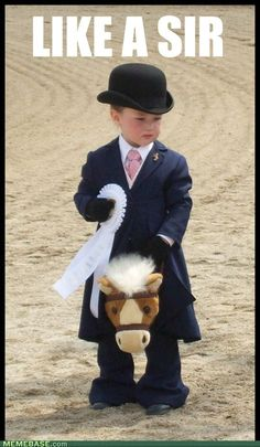 Now thats a good stick horse, it goes western or english ( :