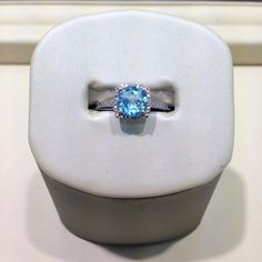 Sterling silver blue topaz December birthstone