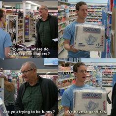 Modern Family - The Big Guns Super Funny, Funny Cute, Haha Funny, Funny Memes, Hilarious, Modern Family Memes, Funny Things, Funny Stuff, Big Guns