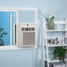Installing Casement Window Air Conditioner : Casement Room Air Conditioner With Electronic Controls Vertical Air Conditioner, Window Air Conditioner, Home Improvement Projects, Home Projects, Home Goods Decor, Home Decor, Casement Windows, Modular Homes, Cool Rooms