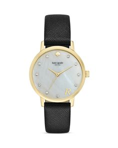 kate spade new york Mother-of-Pearl Metro Monogram A Watch, 34mm