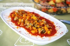 Fried Pepper Salad With Yogurt And Tomato Sauce, courtesy of Turkish Style Cooking.com