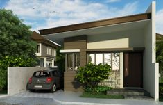 Small house design, is a definition of a great bachelor's pad with a floor area of only 33 m² which can be constructed out of a 68 m² lot area. Design Your Own Home, Small House Design, Home Design Plans, Philippine Houses, Bungalow House Design, House Of Beauty, House Front, One Bedroom, Simple House