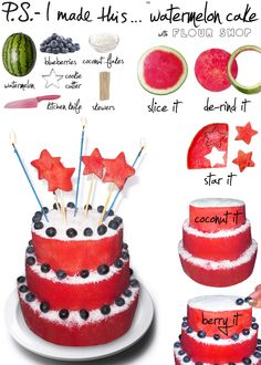 P.S.- I made this...Watermelon Cake with @Gloria Mladineo Jacobs Shop   #DIY #PSIMADETHIS