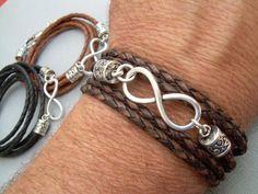 Infinity Bracelet Leather  Bracelet  Mens Bracelet  by MalibuCreek, $25.99