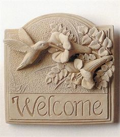 Hummingbird Welcome Plaque *My $1.99 Goodwill find. K*