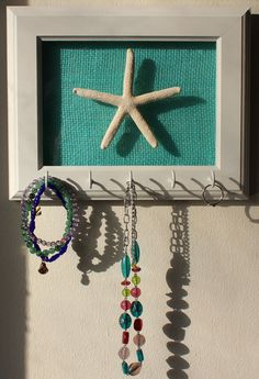 Key Holder Jewelry Organizer Starfish with by CoastalCustomsShop