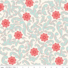 Verona French Fabric Damask Rouge from Riley Blake