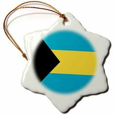 3dRose LLC Bahamas Flag 3-Inch Snowflake Porcelain Ornament >>> Huge discounts available now! : Christmas Home Decor