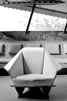 Taliesin West chair. Taliesin West. Scottsdale, Arizona. 1937. Frank Lloyd Wright's winter home and studio from 1937 until his death in 1957.