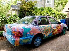 Hand-Painted Car (Not Mine!) by beautifulcataya, via Flickr