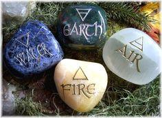 Elemental Direction Garden Stones© Earth, Air, Fire