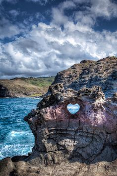 Heart Shaped Rock, Maui, Hawaii.⚐ It's by the nakalele blowhole- Kahakuloa the best way to get to it is from the second parking lot after mile post 38 on highway 30 north