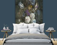 "Create a gorgeous and stylish headboard with this lovely Mural ""Bouquet"" from…"