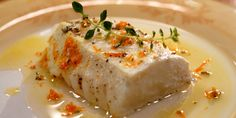 Halibut Poached in Olive Oil - Laura Calder's French Trying it now...