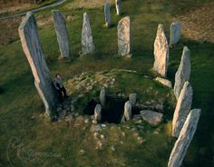 Callanish standing stones on the Isle of Lewis Scotland by Topofly.com