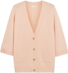 CHLOÉ Oversized cashmere cardigan Peach cashmere Button fastenings through front cashmere Dry clean Imported Pink Cardigan, Oversized Cardigan, Cashmere Cardigan, Cotton Sweater, Oversized Tops, Loose Fitting Tops, Loose Tops, Cut Loose, High Rise Pants
