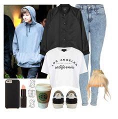 """L.A. with Louis. -----> *Cynthia."" by imaginegirlsdsos ❤ liked on Polyvore featuring Topshop, Monki, adidas, Case-Mate, Barry M, MANGO, Dorothy Perkins, women's clothing, women and female"