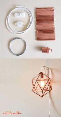DIY - Luminária Icosaedro de Cobre - one lamp a week nat dametto DIY - Kupfer Ikosaeder Leuchte - […] Diy Room Decor, Wall Decor, Home Decor, Diy Luz, Luminaria Diy, Do It Yourself Decoration, Lampe Art Deco, Diy Casa, Ideias Diy
