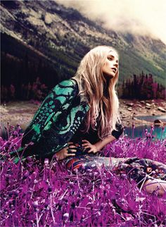 Magazine: Flare Canada Issue: you should take my picture like this LOVE IT September 2011 Editorial: Nature of Prints Model: Elsa Hosk Photographer: Chris Nicholls Styling: Elizabeth Cabral Hippie Love, Hippie Bohemian, Hippie Chic, Boho Gypsy, Hippie Vibes, Haute Hippie, Gypsy Style, Bohemian Style, Boho Chic