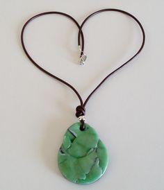 "Halskette ""malaquita-azurit"" Halsschmuck Love Sparkle, Cool Style, Fashion Accessories, Arts And Crafts, Mint, Pendant Necklace, Polymer Clay, Jasmin, Silver"