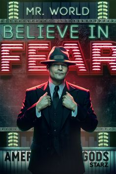 American Gods (TV Series) Photo: American Gods - Season 2 Poster - Believe in Fear Neil Gaiman, Mad Sweeney, Michael Ealy, New Gods, Internet Movies, Pose, American Gods, Fanart, About Time Movie